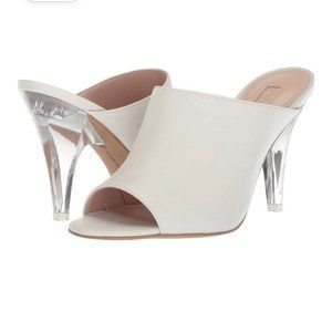 Avec Les Filles Leather Jazz Heel Mules Womens 8.5